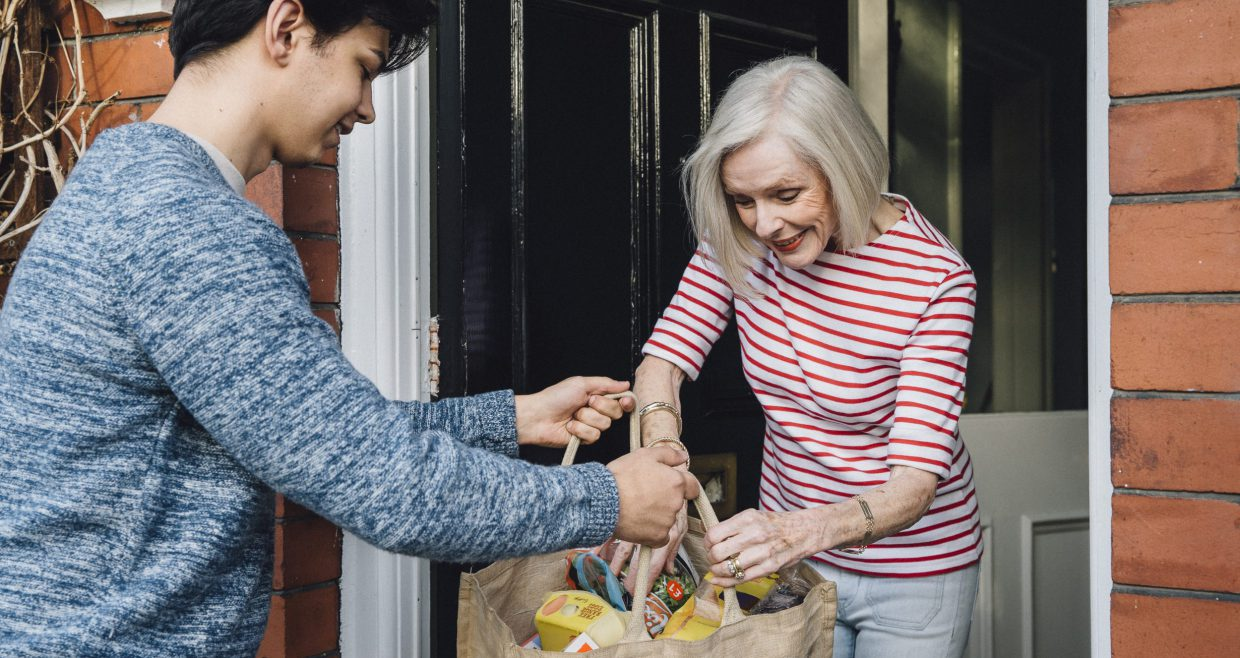 Delivering Groceries To The Elderly